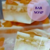 """👌Bar soap """"Juicy tangerine""""  ☝️Bar soap """"Juicy tangerine"""" was created for daily use for all family members from 2 years old.  ☝️Enjoy a gentle foam and a bright scent of tangerine. Ingredients: professional vegetable based soap, glycerine, cosmetic pigments, aroma composition #arinkasoap"""