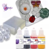 Soapmaking starter kit includes:  ✔soap base ✔cosmetic colours ✔cosmetic fragrance  ✔plastic soap mold  ✔Manual  👌Manualour best prices make it accessible to everyone. the starter kits start from 18.75 € .  #ArinKaSoap
