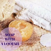 ☘️By selecting a combination of various ingredients, we make natural soap to be the most useful and effective provider of health and beauty for your skin.  ☘️The composition of this plant soap includes natural honey, loofah, coconut oil and jojoba oil.  ☘️The upper layer consists of 100% natural honey, the bottom layer has the organic base of coconut oil and jojoba oil. This soap has tonic and cooling properties.  ☘️ This soap works perfectly against cellulite. Thanks to the honey, your cellular metabolism becomes active, and it significantly improves lymph flow and microcirculation.  ☘️Loofah is one of the main ingredients of this soap to exfoliate the skin, removing dead skin cells. With the help of natural oils included in the composition, the regeneration process of your skin occurs faster  🏷️€4.00  #arinkasoap