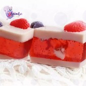 """☘️Soap scrub """"Strawberries and cream"""" with macadamia oil, goat milk and fruit seeds gently exfoliates the skin, providing moisturizing and softening effect.  ☘️The soap contains:  - Moisturizing and nourishing properties of macadamia oil could not be better suited for children's sensitive skin as it is hypoallergenic.  - Goat's milk helps your skin to regenerate, the lacto-pigments moisturize your skin nicely and support by its elasticity.  - Fruit seeds gently exfoliate dead skin cells.  ☘️€4.00"""