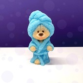 """😍And who is so cute there?   😍Who is it in a bathrobe, with a tummy and so serious?   🤗Certainly it is """"Teddy Bear in a bathrobe"""", handmade soap. It's like he just came out of the sauna, wrapped himself in a towel and bathrobe, and waits for her mistress.   💫It is a super cute creation beloved by everyone without exception. This soap does not leave anyone indifferent and will be a great souvenir, both for adult and child.  For order ⬆️arinkasoap.com  #arinkasoap"""