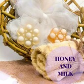 """☘️Natural handmade soap """"Honey and milk"""" with coconut oil, honey and goat's milk.  ☘️- Honey has an antibacterial effect, increases metabolism, accelerates skin regeneration.  ☘️- Goat milk contains vitamins A, C, E and D, as well as potassium, calcium and other minerals to make this valuable product indispensable as cosmetic raw material.  ☘️- Coconut oil is known fighter for skin elasticity.  ☘️The soap foams well, has a delicate creamy foam, a thin delicate milk and honey fragrance.  ☘️Made in a special form with the effect of massage. Ideal for the cold season.  #ArinKaSoap"""